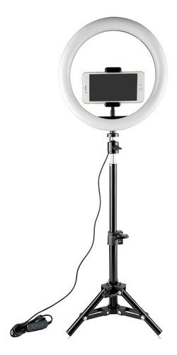 Aro De Luz Led Fotografia Celular Iluminador Selfie Tripode!