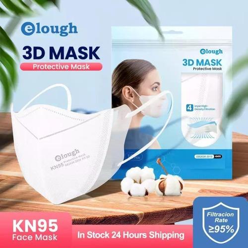10 Máscaras Elough Boca De Peixe 3d Reutilizavel Kn95 Pff2