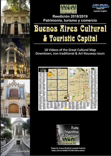 Dvd Y Mapa Buenos Aires Capital Cultural Con 18 Tours. Aanba