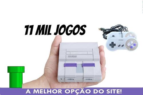 Mini Super Nintendo 8 Mil Jogos 2 Controles + Ps1+ N64+ Mega