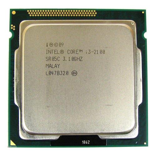 Processador Gamer Intel Core I3-2100 Bx80623i32100 De 2 Núcleos E 3.1ghz De Frequência Com Gráfica Integrada