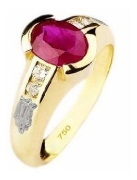 Anel De Formatura Ouro 18k E Diamantes Naturais Mod. Cj1367 Original