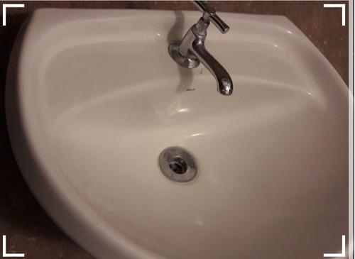Lavatório Banheiro-coluna Com Torneira E Valvula - Só Retira