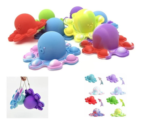 Pop It Fidget Brinquedo Anti Stress Colorido Polvo Tiktok