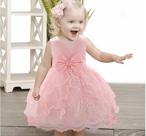 Vestidos De Festa Para Sua Bebê De 06 Meses A 02 Aninhos.