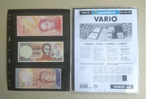 Hoja Vario Fondo Negro 6 Bolsillos