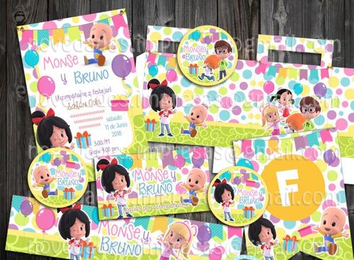 Kit Imprimible Familia Telerín , Cleo Y Cuquín Cumpleaños