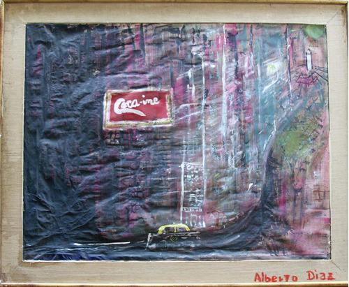 Coca-ine        2015        Acrilico S/t        70 X 90