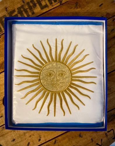 Bandera De Ceremonia Arg Doble Sol Bordado