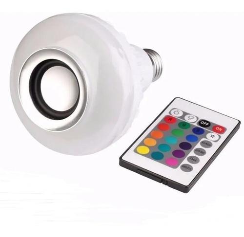 Lampada Led 12w Bulbo Rgb Caixa Som Bluetooth C/controle