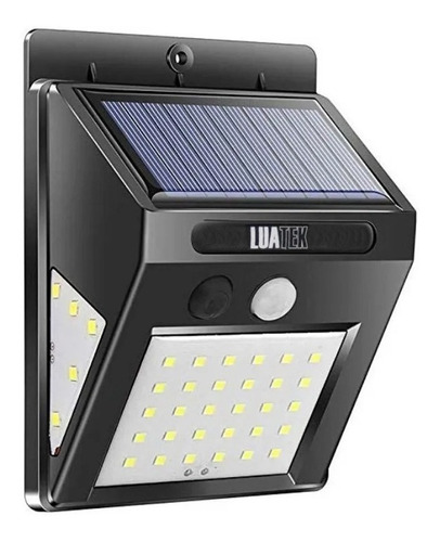 Luminária Solar Arandela 30 Leds Sensor De Presença Forte