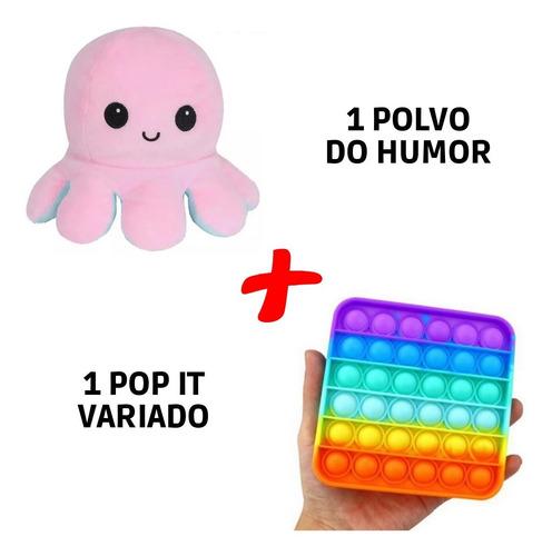 Pop It Fidget Toy Empurre Bolha Polvo Pelúcia Tiktok Bipolar