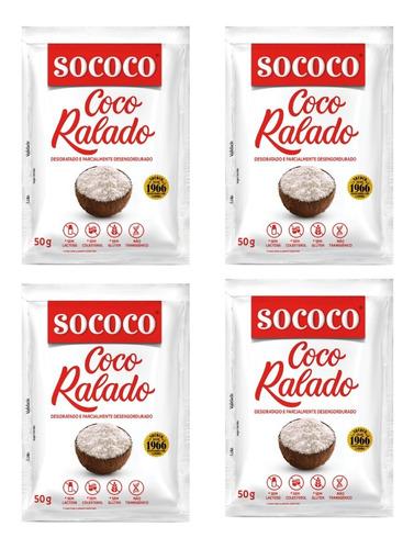Kit Coco Ralado Sococo 50gr - 4 Unidades