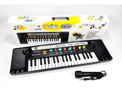 Teclado Infantil Brinquedo Mq 3700 Com Microfone 37 Teclas