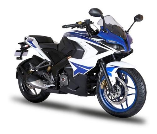 Moto Bajaj Rouser Rs 200 0km 2021 Azul/blanca