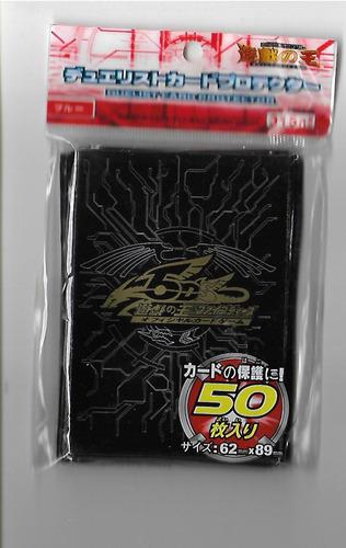Yu-gi-oh Pacote De 50 Sleeves Shield Protetores 5ds Preto