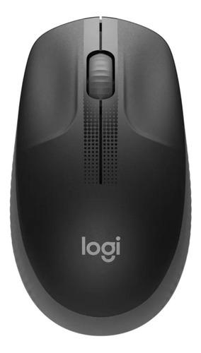 Mouse Sem Fio Logitech  M190 Cinza-carvão