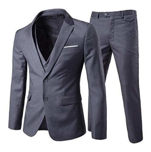Terno Slim Masculino Cinza - Kit 3 Em 1 * Super Oferta *