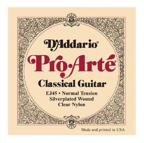 Cuerdas D Addario Pro Arte Ej45 Para Guitarra Clasica