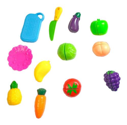 Kit Brinquedo Frutas / Legumes De Cortar  12 Pcs Comidinhas