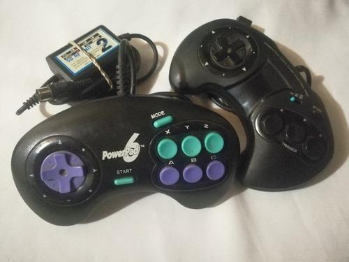 Lote De 2 Joystick+ Antena Rf Para Sega Genesis (leer)