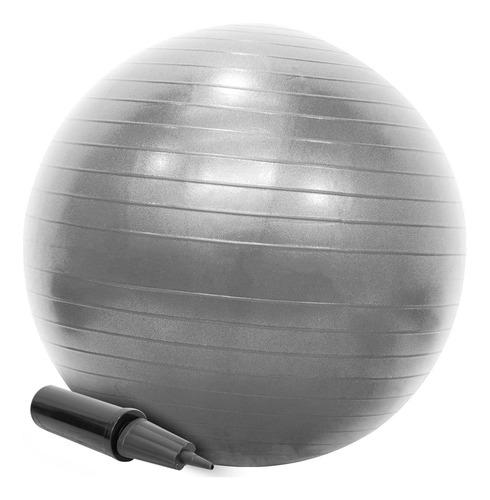 Bola Pilates Suíça 65cm Com Bomba Yoga Abdominais 200kg