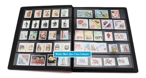 Álbum Classificador Para Selos Com 10 Folhas (20 Páginas)
