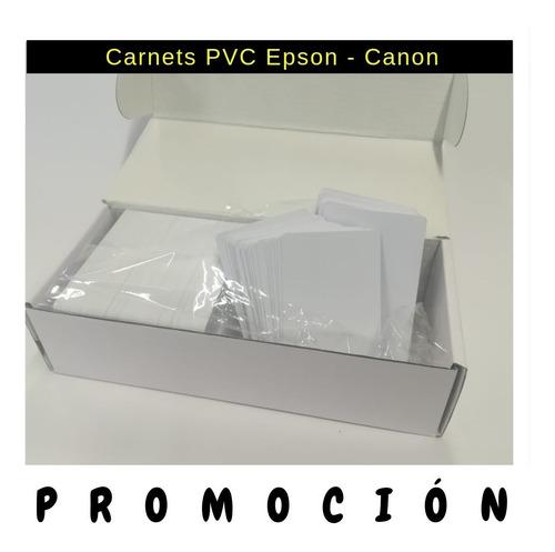 Carnet Pvc Epson T50 L800 X 100 Unidades Mayorista Promoción