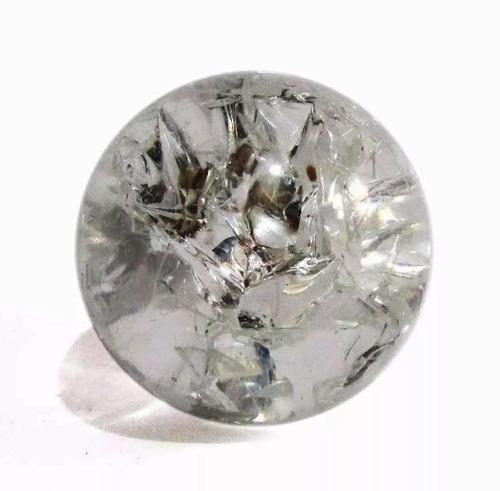Bolinha De Vidro Para Fonte De Água Esfera Cristal 5 Cm