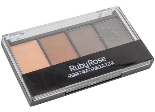 Trio De Sombras Para Sobrancelhas Com Primer Ruby Rose