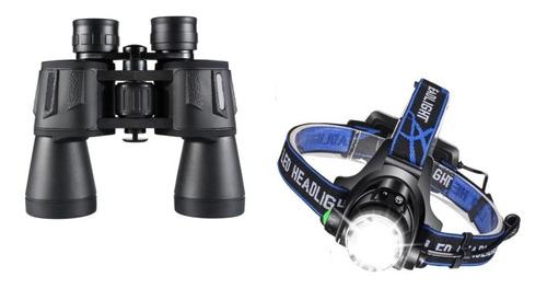 Kit Acampamento Trilha E Férias Binóculo Lanterna D/cabeça