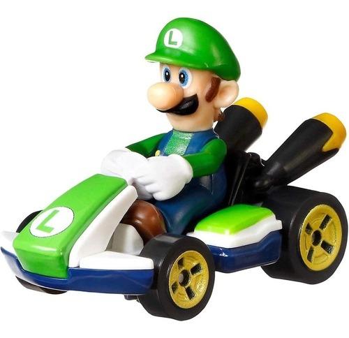 Luigi Standard Kart Hot Wheels Mario Kart 2021 Glp37 1/64