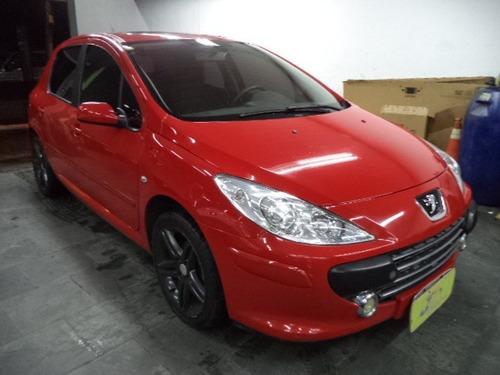 Peugeot 307 Hatch Pack 1.6 16v Flex Completo Teto 2011 Verm.