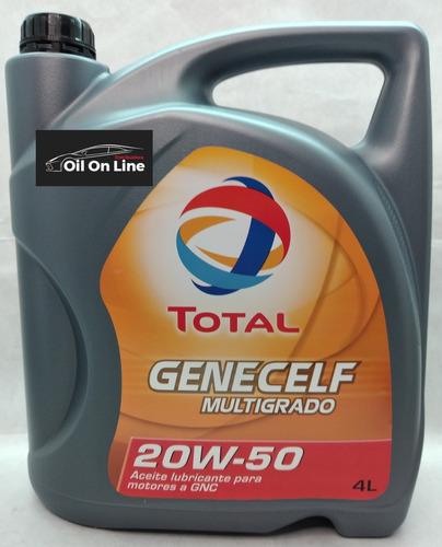 Aceite Total Genecelf Multigrado 20w50 4 Lts (motores A Gnc)