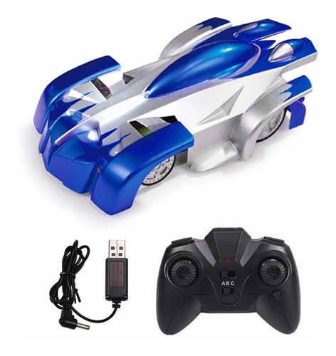 Carrinho Rc 9920l Parede Escalada Com 360 Graus Rotação Azul