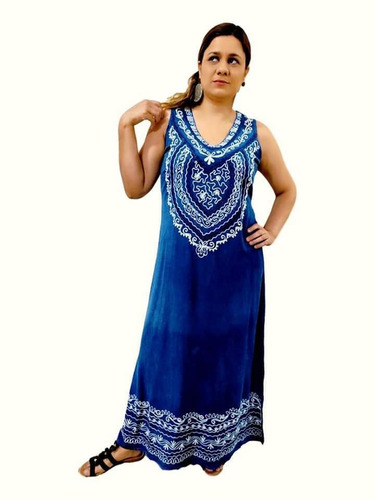 Vestido Feminino Longo Regata Indiano Moda Boho - Cod. 304