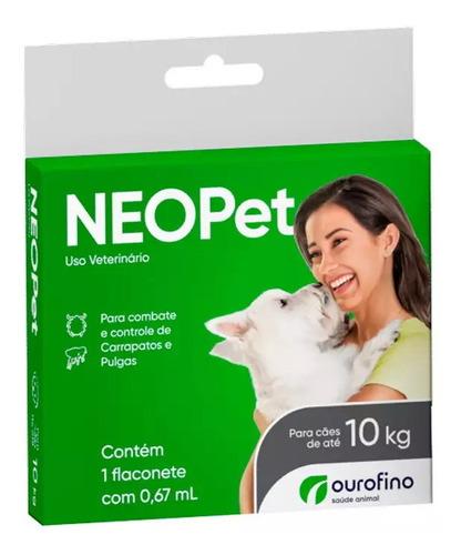 Anti Carrapatos E Pulgas Neo Pet Para Cães Até 10kg