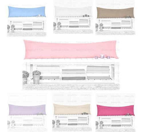 2 Fronhas Travesseiro De Corpo Mega Xuxão 1,45m X 45 Cm