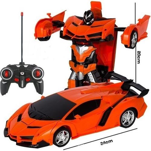 Carrinho Que Vira Robô Com Controle Remoto Sem Fio Carrotron