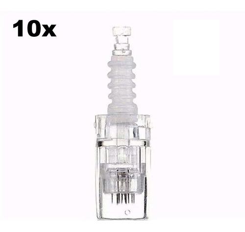 Agulhas Cartucho Caneta Derma Pen 12 36 42 Nano Micro Kit 10