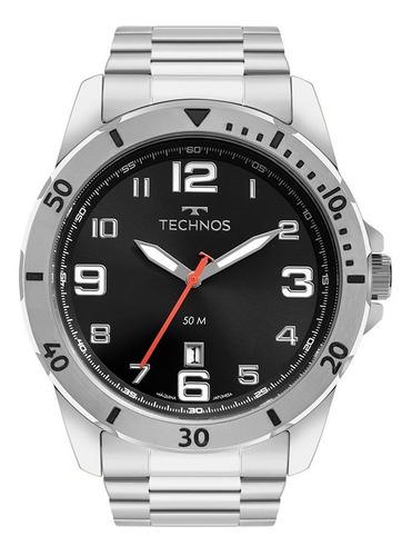 Relógio Masculino Technos Prata Performance Militar Barato