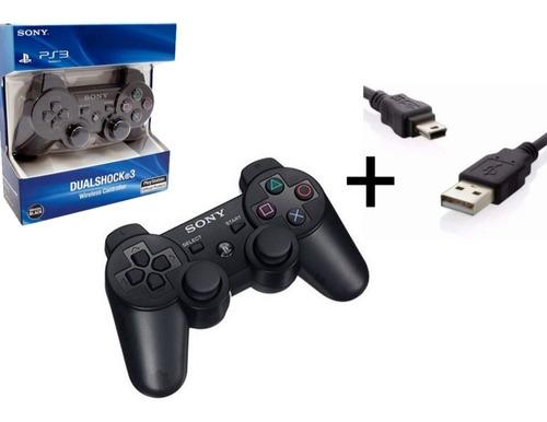 Controle Sem Fio Sony Dualshock 3 + Cabo Carregador + Nf