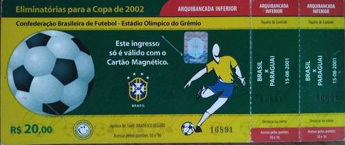 Ingresso Das Eliminatórias Da Copa Do Mundo De 2002