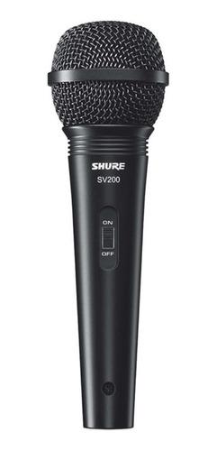 Micrófono Shure Sv200 Dinámico Cardioide Negro