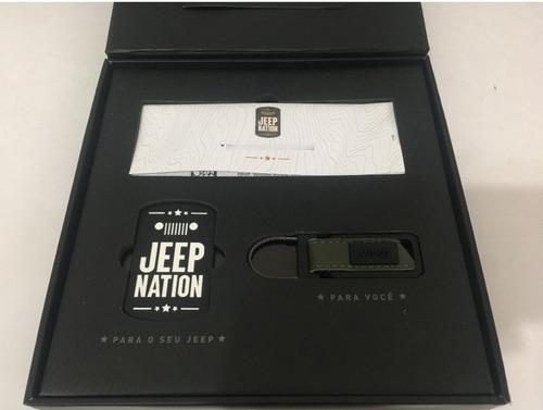 Kit Jeep Nation Com Chaveiro E Badge Renegade Mopar Novo