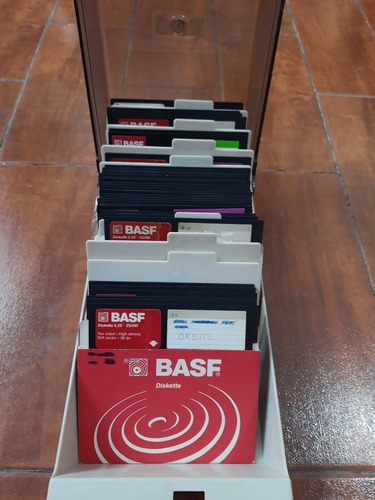 Diskettes Basf 5,25 2s/hd (x 35 Unidades) + Caja