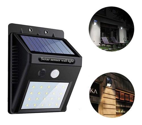 Luminária Solar 20 Leds Arandela Parede Com Sensor Presença
