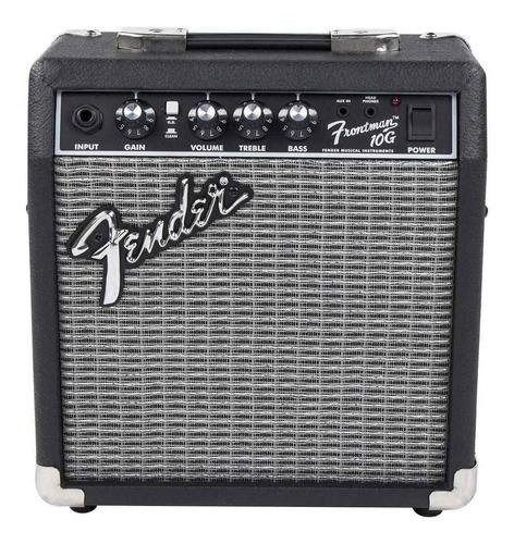 Amplificador Fender Frontman Series 10g Combo Transistor 10w Negro Y Plata 220v