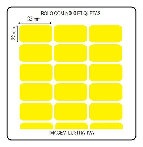 Etiqueta Ades Amarela 3,3x2,2cm Impressora Argox Elgin Zebra