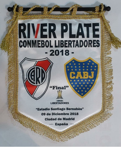 Banderin River Plate Vs Boca 9/12/18 En  Madrid Envio Gratis